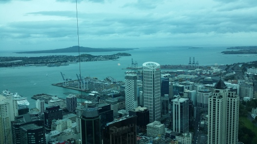 view from the tower in Auckland